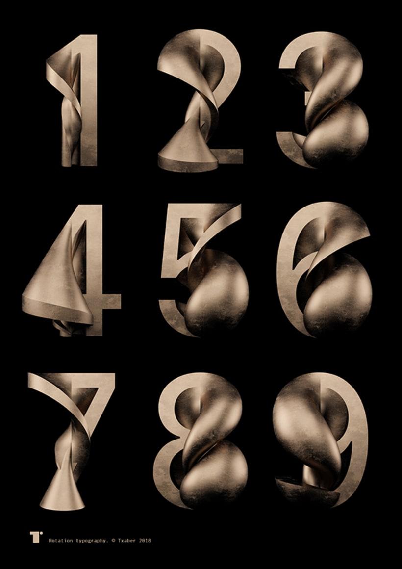Tipografía Rotation 28