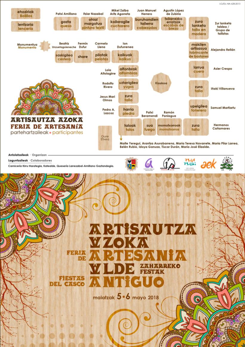 Dípticos y trípticos promocionales para días festivos en Alsasua · Navarra 5