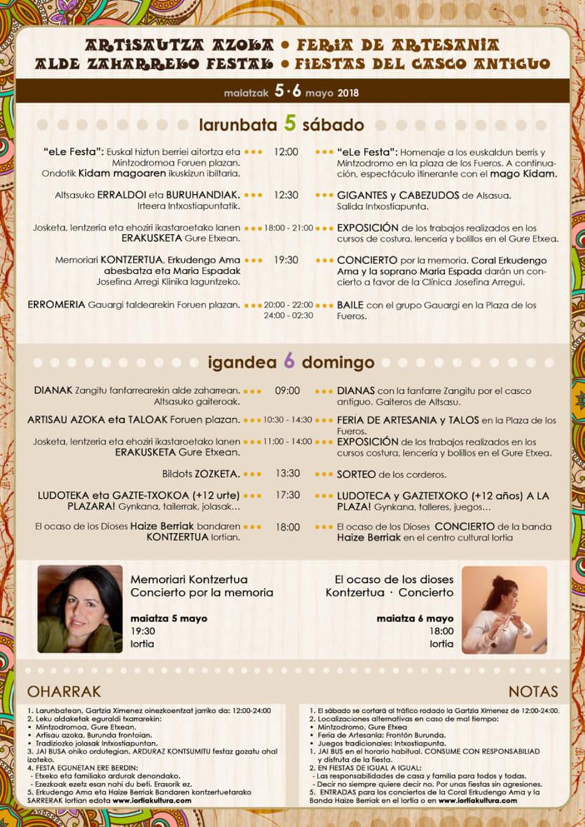 Dípticos y trípticos promocionales para días festivos en Alsasua · Navarra 6