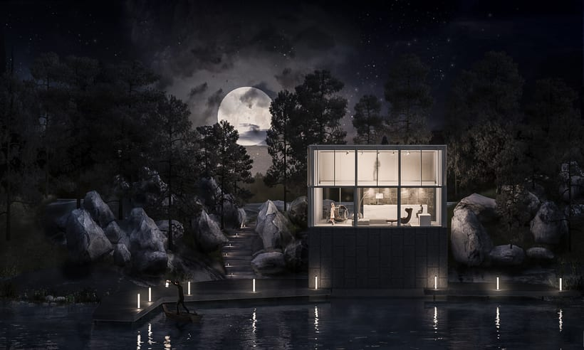 Glasshouse - Proyecto final - Representación de espacios arquitectonicos - Phrame -1