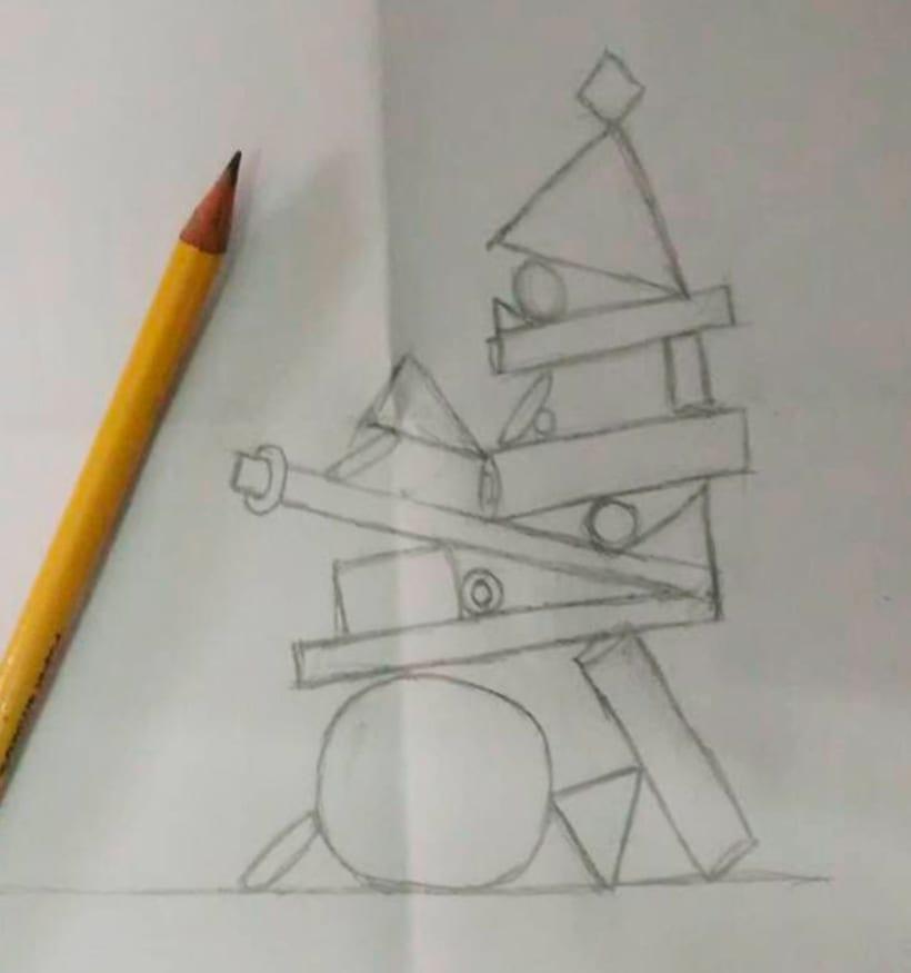 Totem Balance, del curso de Cinema4D por el ilustrador Zigor. 0