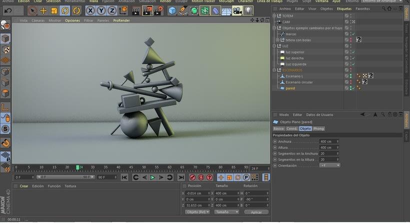 Totem Balance, del curso de Cinema4D por el ilustrador Zigor. 1