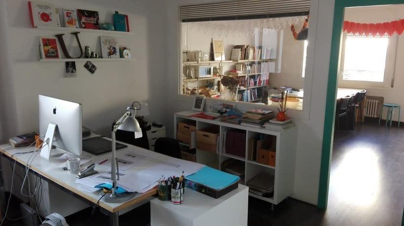 Coworking de il·lustradores en Barcelona, Gràcia. 2