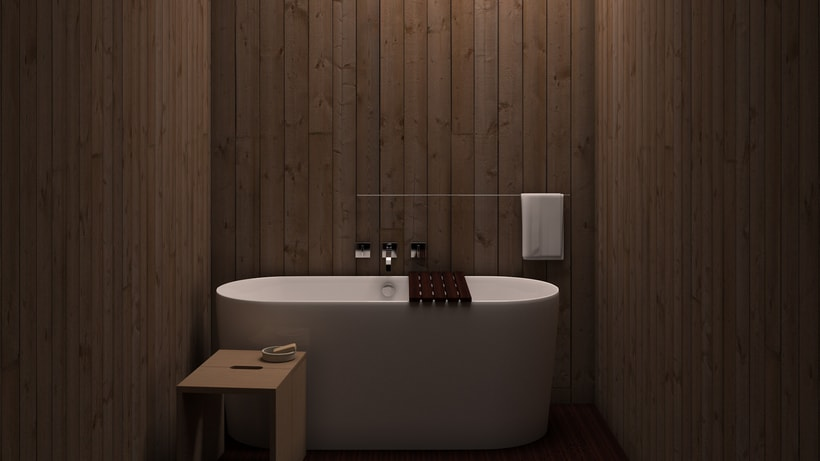 Baño de madera 0