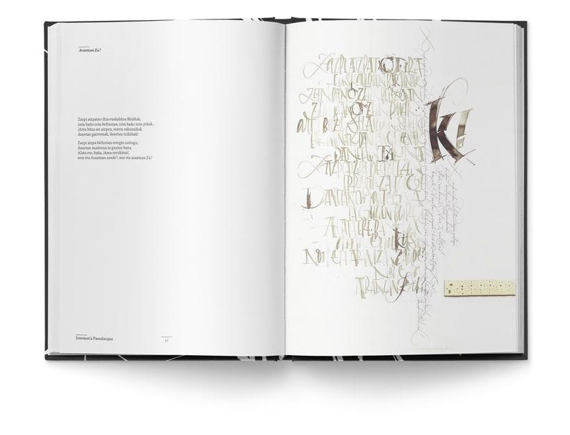 Libro «Caligrafía en Arantzazu: el arte de la bellas escritura»  8