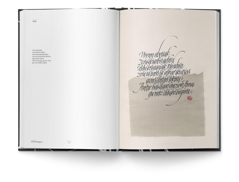 Libro «Caligrafía en Arantzazu: el arte de la bellas escritura»  9