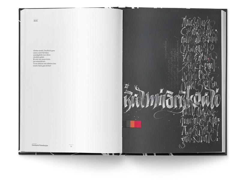 Libro «Caligrafía en Arantzazu: el arte de la bellas escritura»  11