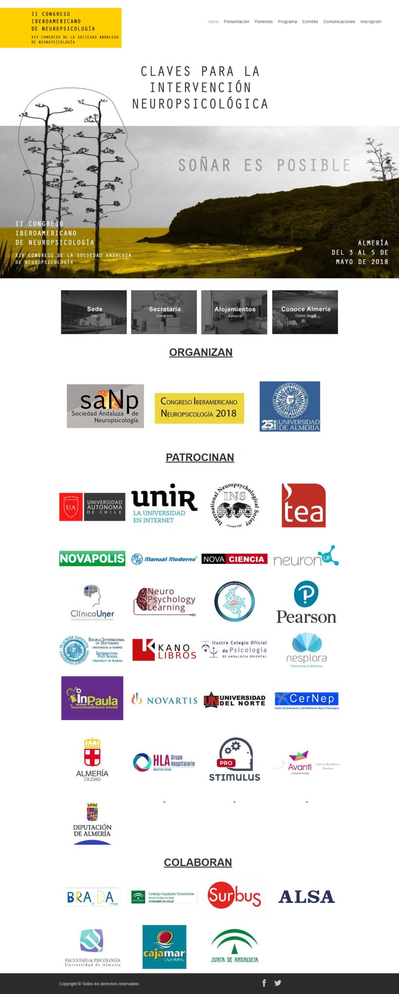 Diseño Gráfico y Web del Congreso Iberoamericano de Neuropsicolgía 2