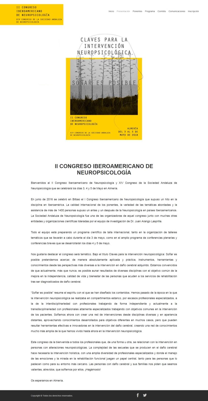 Diseño Gráfico y Web del Congreso Iberoamericano de Neuropsicolgía 3