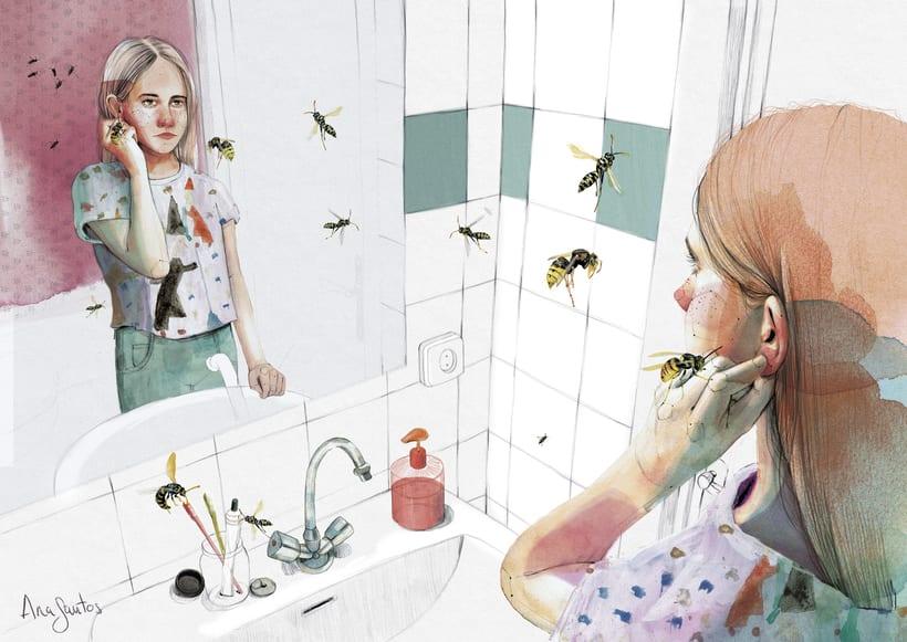 """Ilustración para el libro """"El futuro es femenino"""" Ed. Penguin Random House. Escrito por Sara Cano 1"""