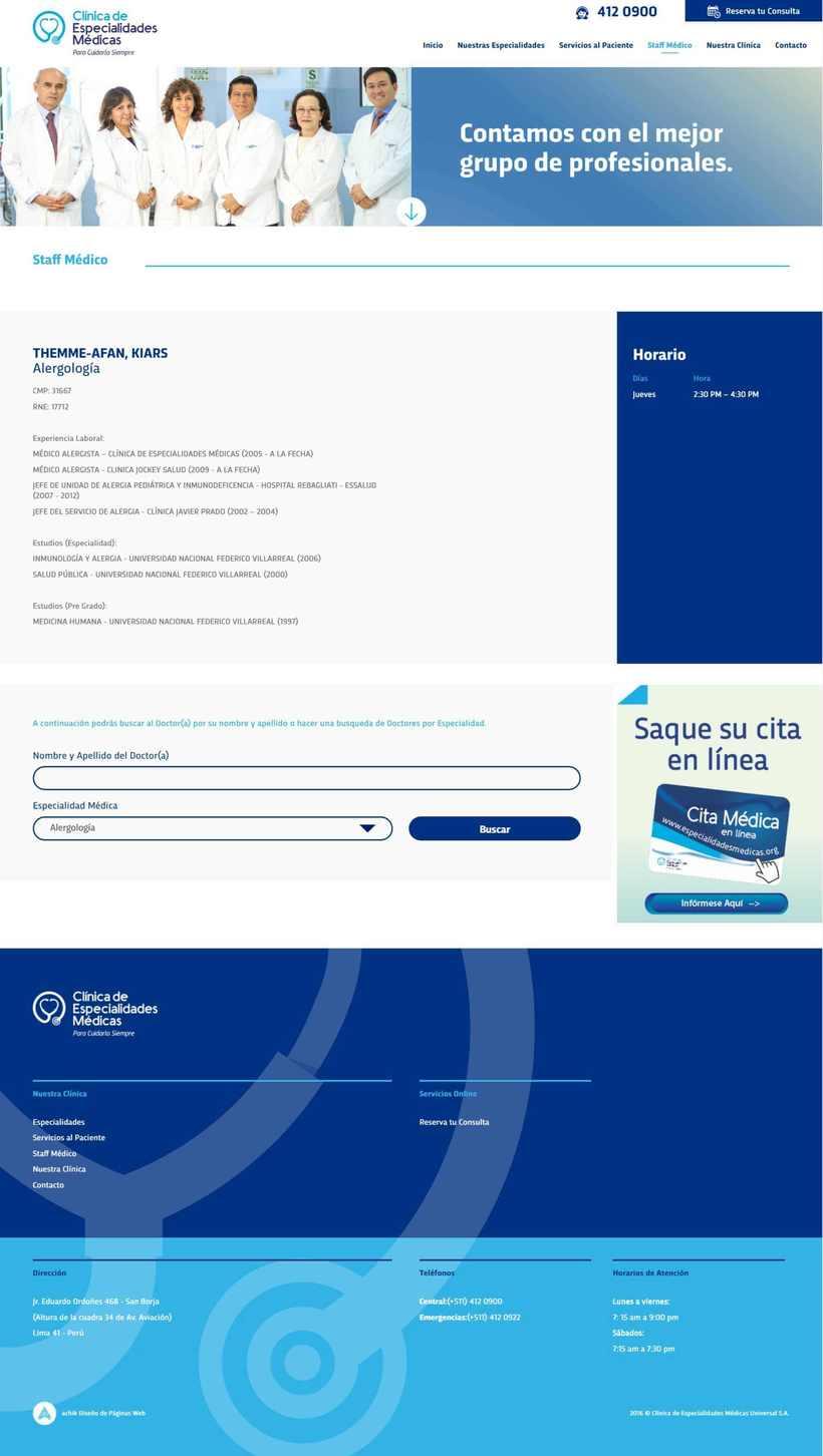 Clínica Especialidades Médicas 3