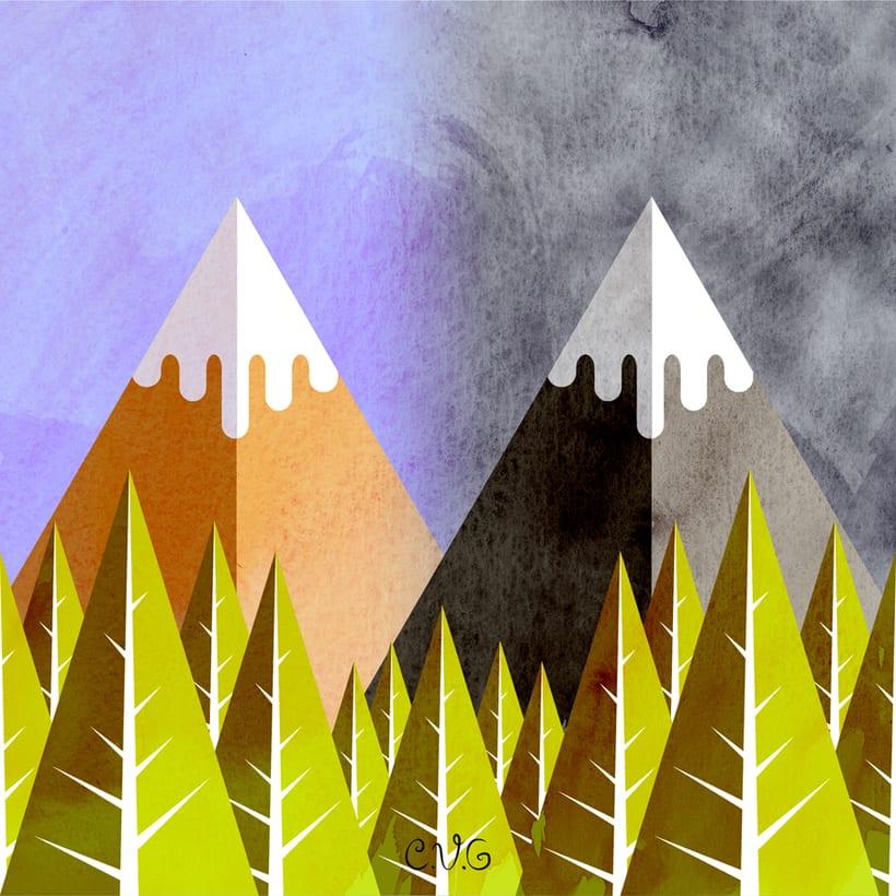 Twin Peaks, Flat Design. 0