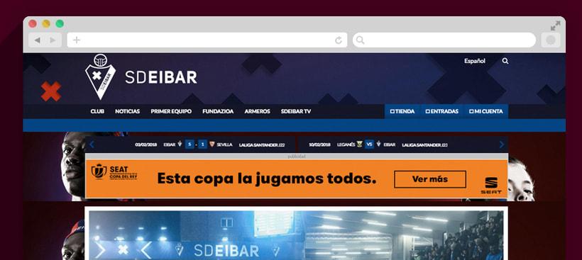 SD Eibar - Diseño web 2