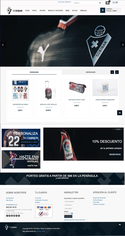 SD Eibar - Diseño web 0