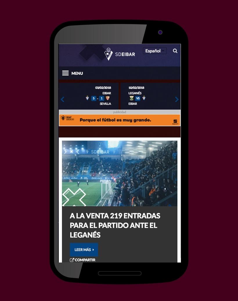 SD Eibar - Diseño web 3