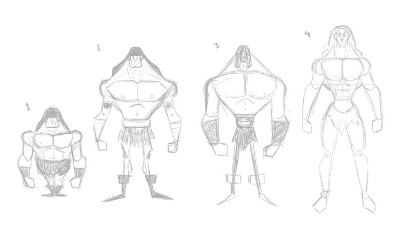 Character design. Conan 0