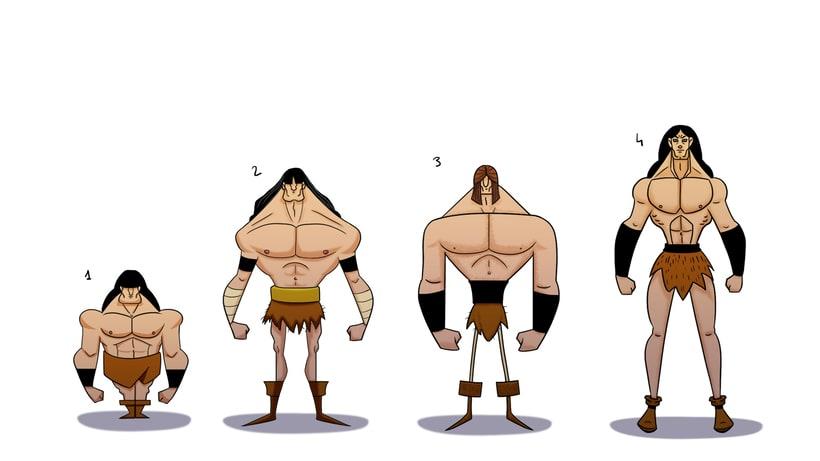 Character design. Conan 2
