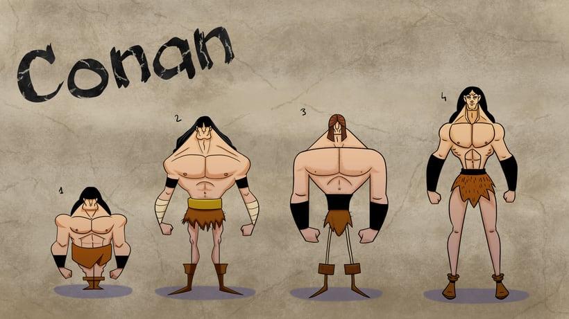 Character design. Conan 3