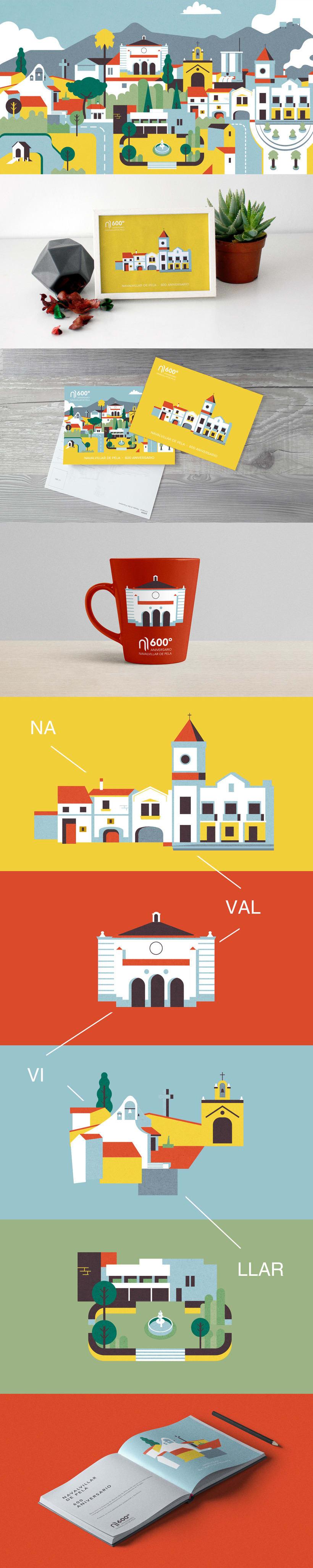 Diseño, ilustraciones y skyline de Navalvillar de Pela (Badajoz) 0