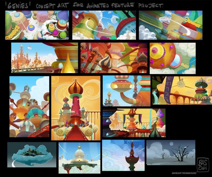 "Concept Art proyecto largo animación ""Genies"" -1"