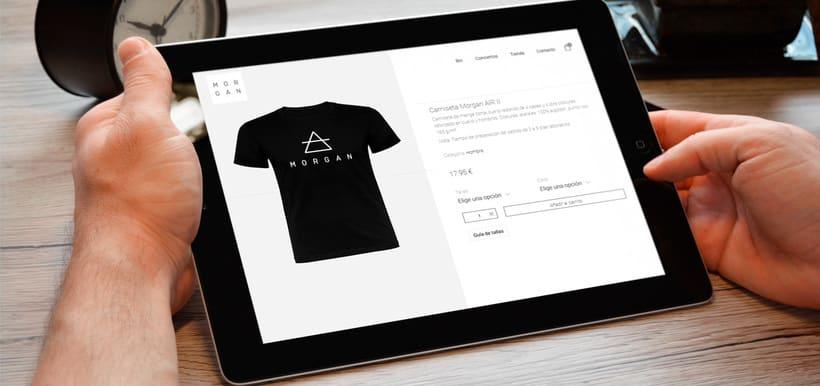 MORGAN - Diseño web / Tienda Online / Merchandising 2