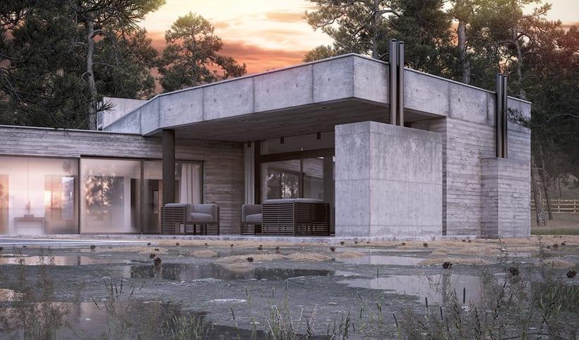 Casa en Cañuelas - Renders exteriores 2