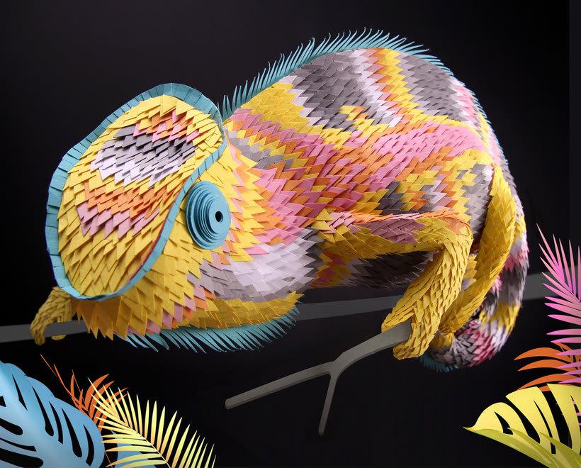 La delicada escultura con papel de Lisa Lloyd 10