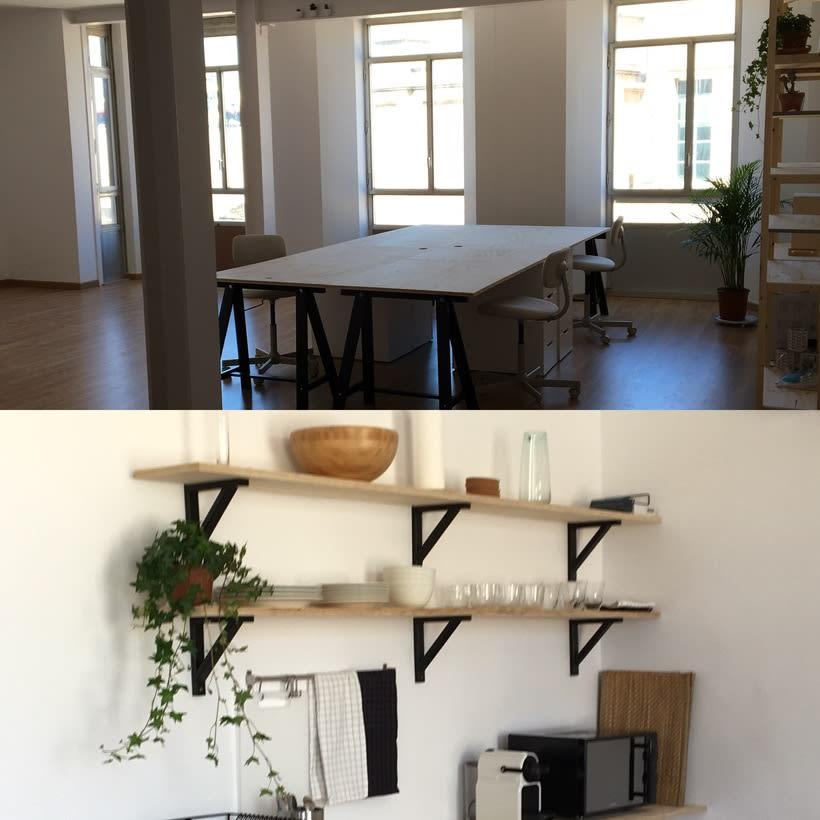 Alquiler de mesas de trabajo en nuevo estudio en Barcelona 1