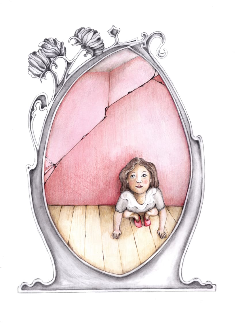 """Ilustraciones para """"Solo un pie descalzo"""". Ana María Matute.  5"""