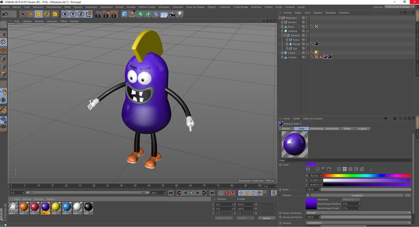 Mi Proyecto del curso: Introducción exprés al 3D: de cero a render con Cinema 4D 7