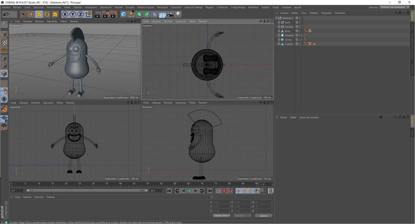 Mi Proyecto del curso: Introducción exprés al 3D: de cero a render con Cinema 4D 6