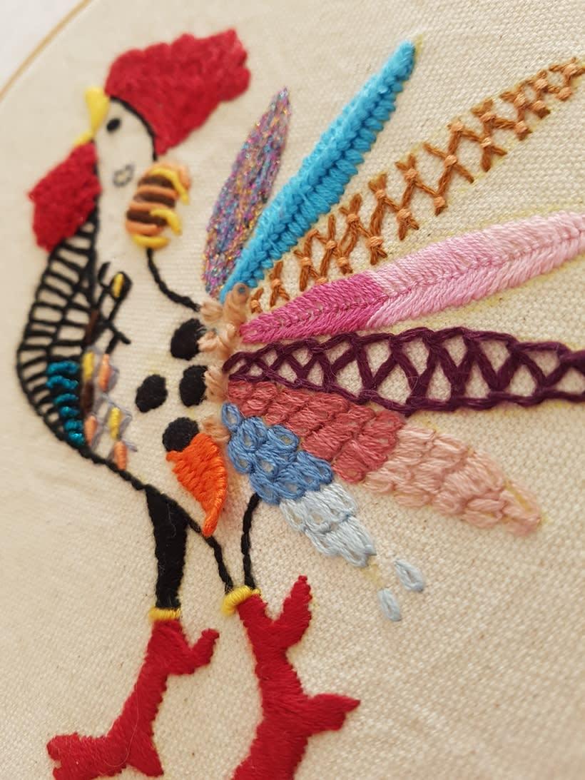 Mi Proyecto del curso: Técnicas de bordado: ilustrando con hilo y aguja 2