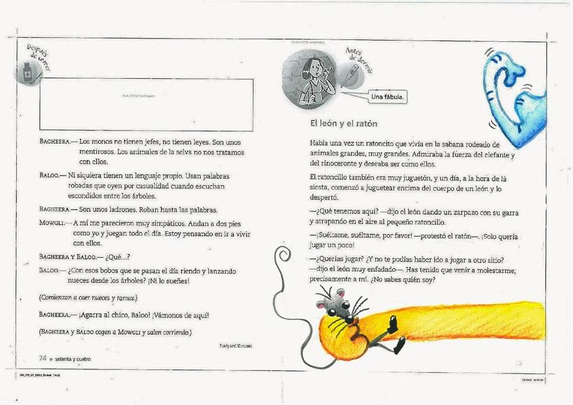 ilustraciones para fábula el león y ratón 0