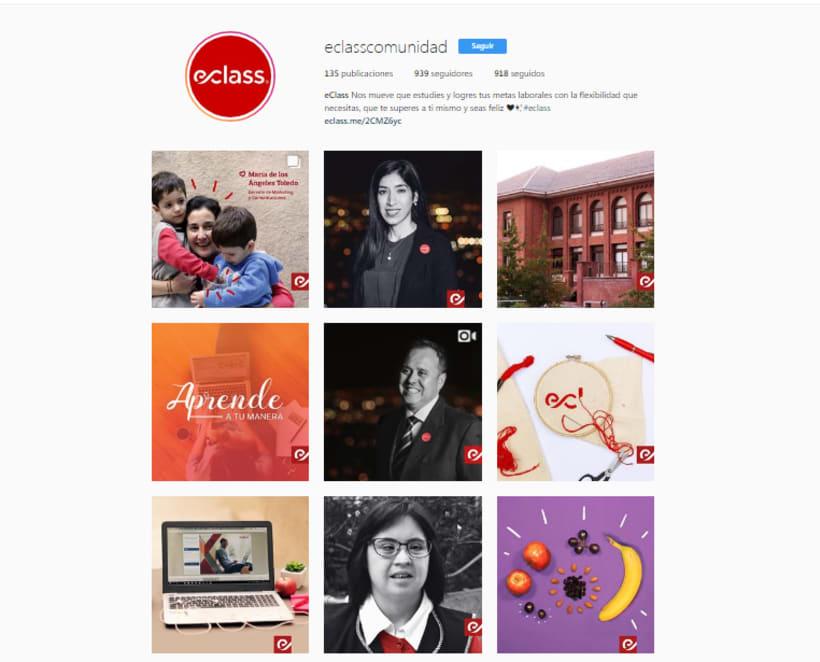 Instagram para empresa de estudios online: eClass 7
