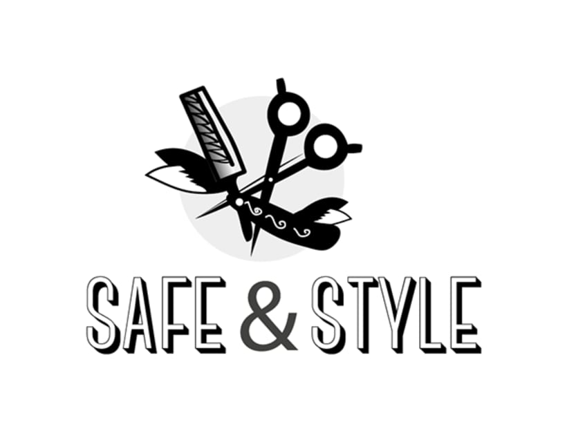 Logotipo Shave&Style 4