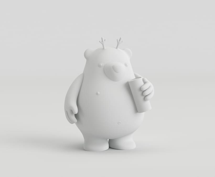 THE NAKED BEAR  (Diseño de personajes en Cinema 4D: del boceto a la impresión 3D) 2