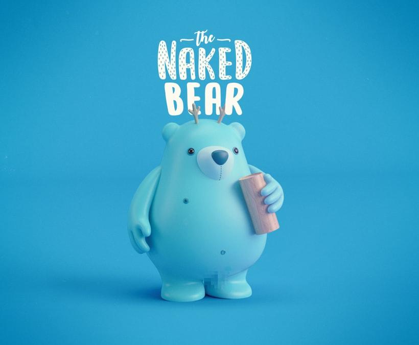 THE NAKED BEAR  (Diseño de personajes en Cinema 4D: del boceto a la impresión 3D) 4