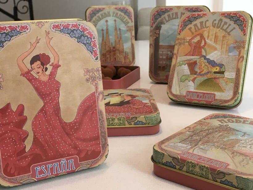Colección de petacas metálicas vintage. Dgdegsuta (Balcam Diagonal)  7