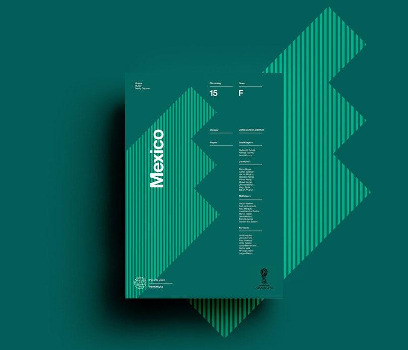 Carteles minimalistas para el Mundial de Rusia 2018 1