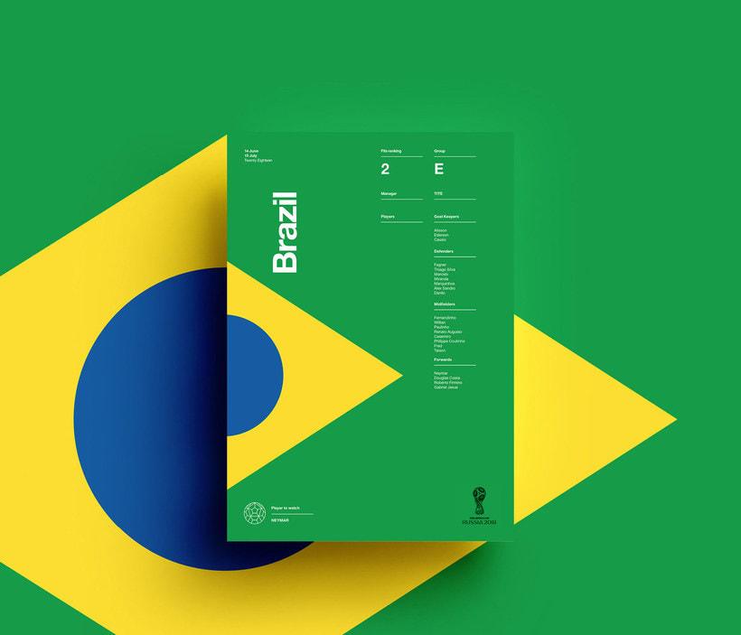 Carteles minimalistas para el Mundial de Rusia 2018 6