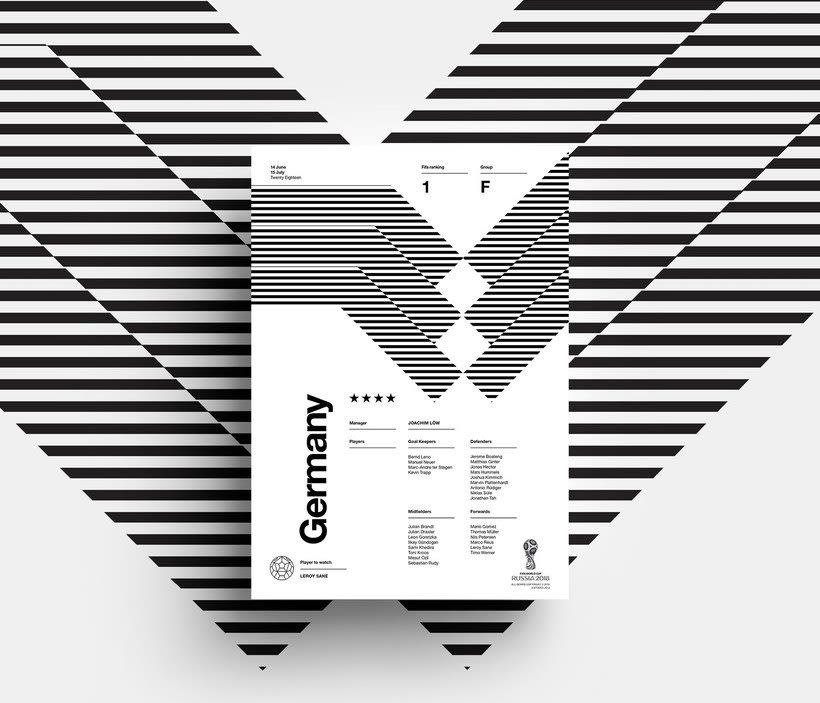 Carteles minimalistas para el Mundial de Rusia 2018 10