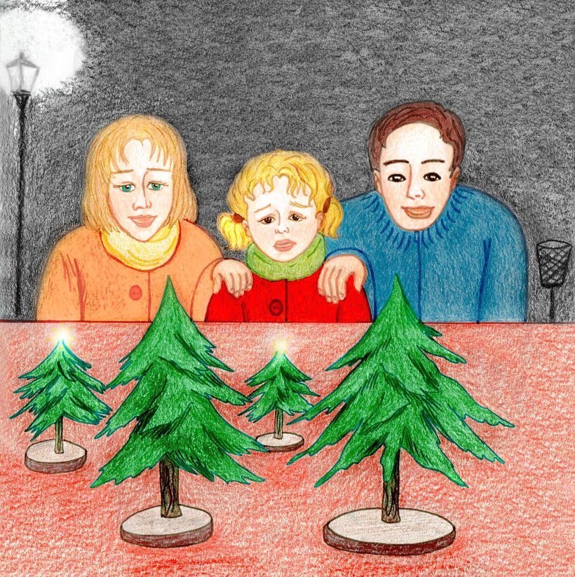 Ilustración de un cuento: L'Avet Màgic 4