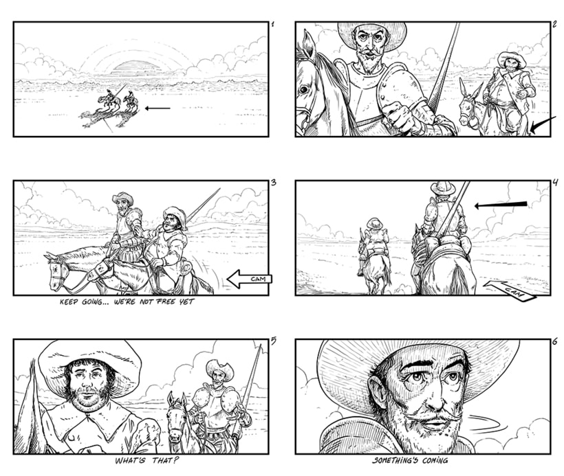 The Man Who Killed Don Quixote - Storyboards 2