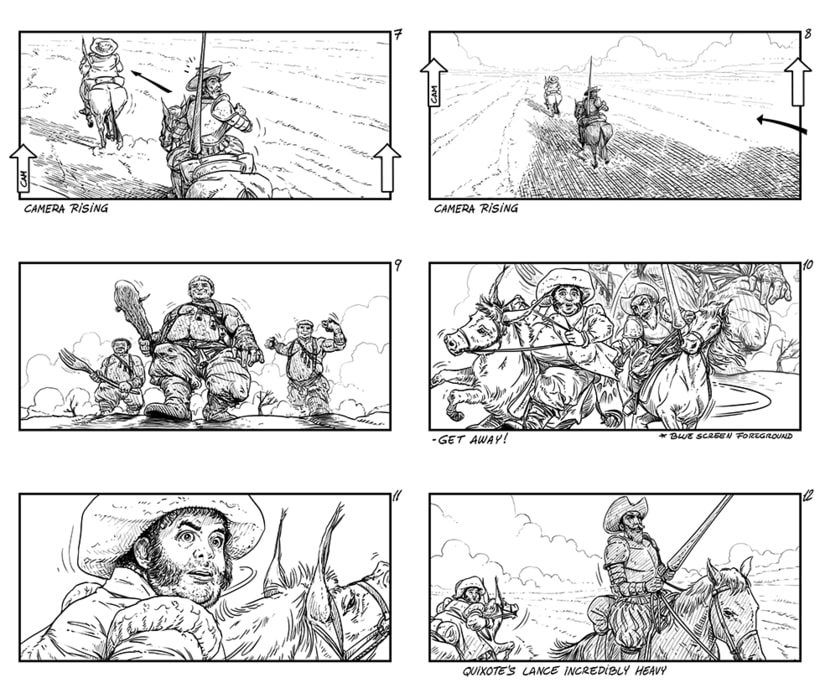 The Man Who Killed Don Quixote - Storyboards 3