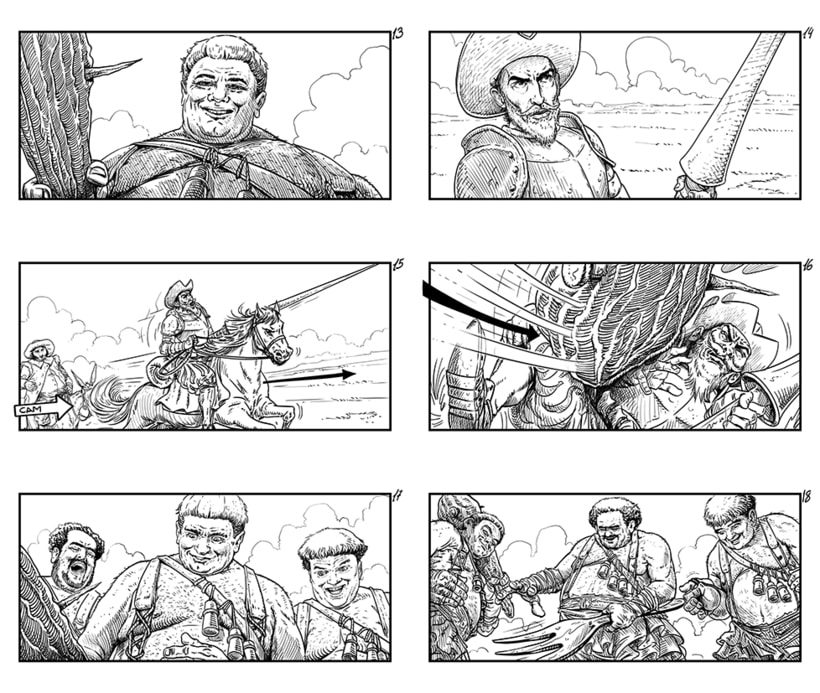 The Man Who Killed Don Quixote - Storyboards 4