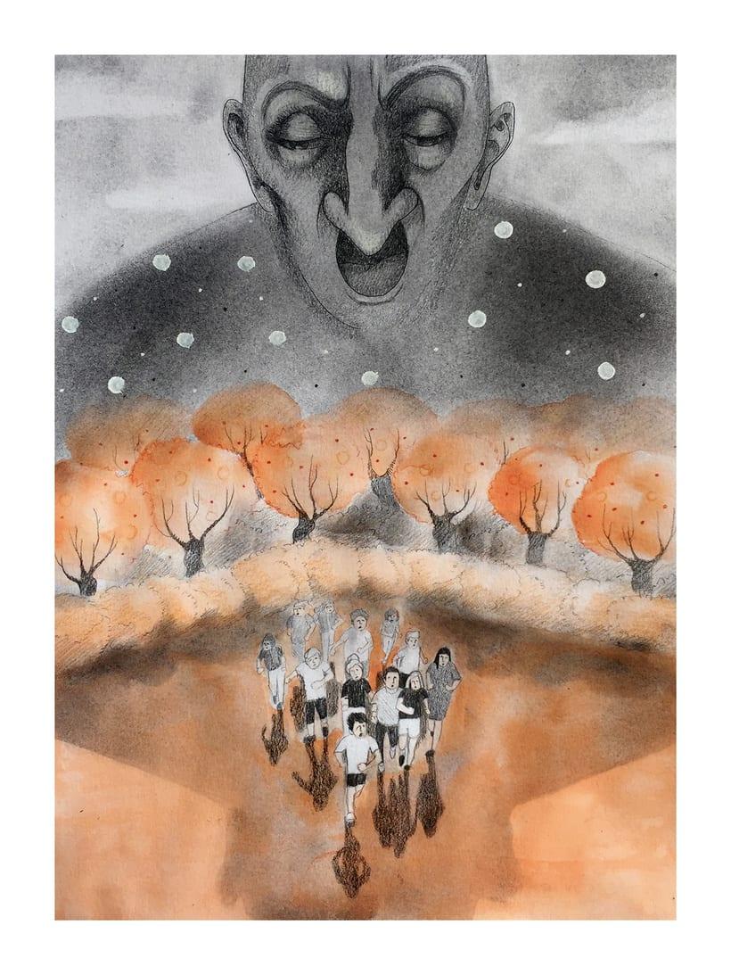 """""""El gigante egoísta"""" Mi Proyecto del curso: Introducción a la psicología del color: la narrativa cromática 0"""