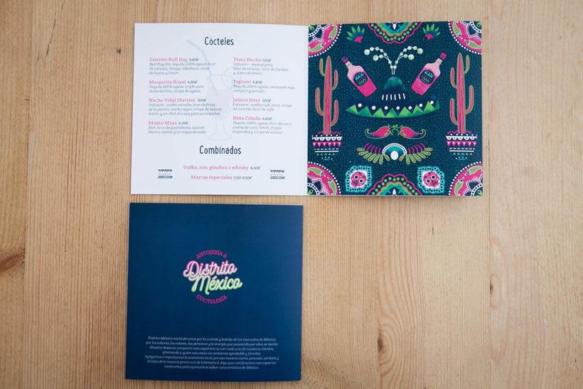 Distrito México Cartas Menú 2