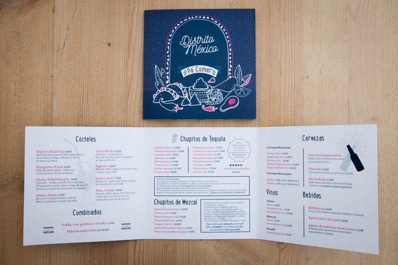 Distrito México Cartas Menú 3