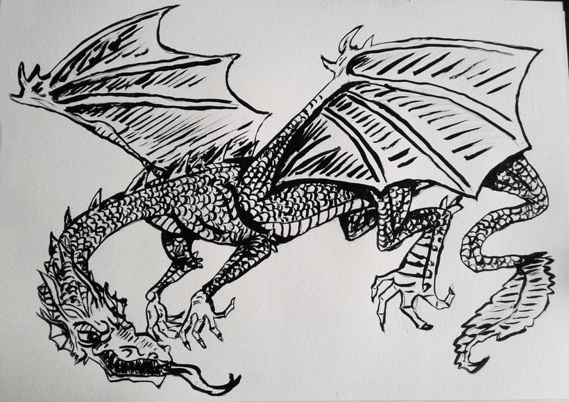 Mi Proyecto del curso: Técnicas de entintado para cómic e ilustración 2