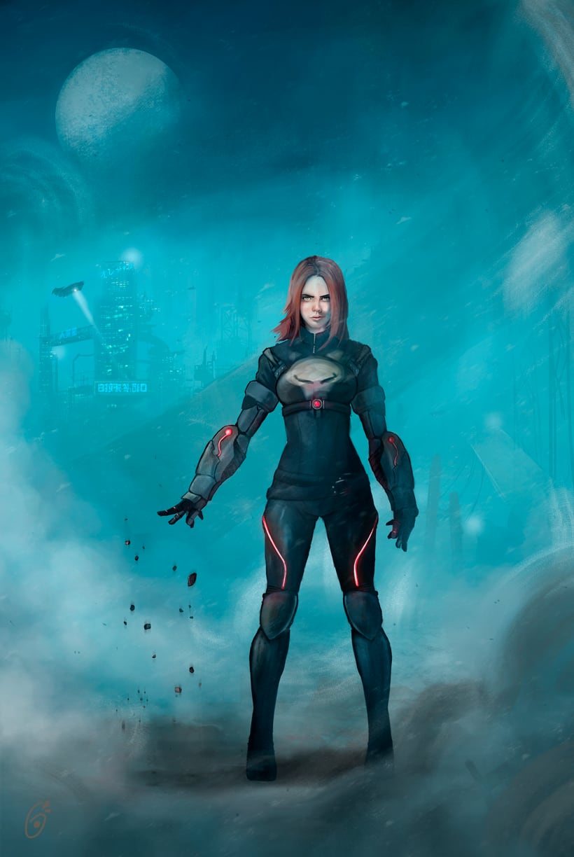 Agent XV - Mi Proyecto del curso: Diseño de personajes para concept art 0